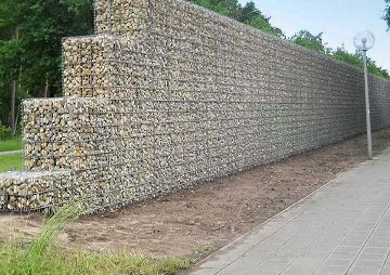 Lärmschutzwand aus Gabionen, Nürnberg-Süd
