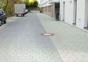 Außenarbeiten am Wohngebäude Neubleiche, Nürnberg