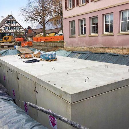 Löschwasserbehälter 200 m³, Braunsbach-Orlach