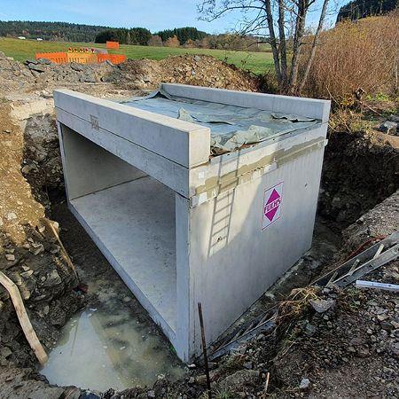 Neubau Stahlbetonfertigteilbrücke, Wellendingen