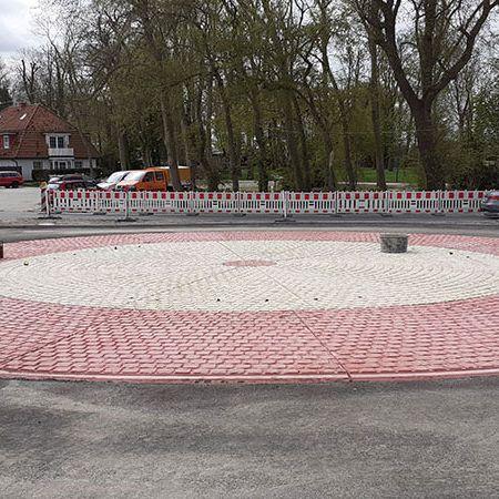 Fertigteil-Kreisverkehr in Ostfriesland, Neuharlingersiel