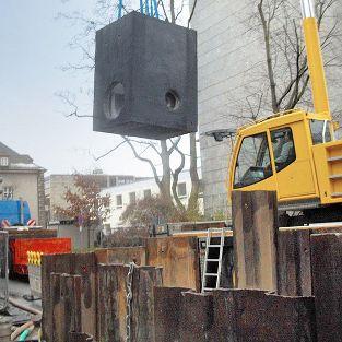 Umbau Abwasseranlage, Altstadt Fürth