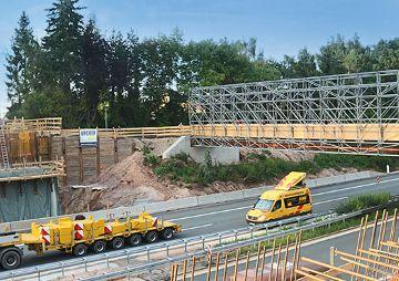 Brückenbauarbeiten an der BAB A 6, bei Schwabach