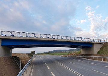 Brückenbauwerk BW 2-1, über die B299, Ortsumgehung Mühlhausen