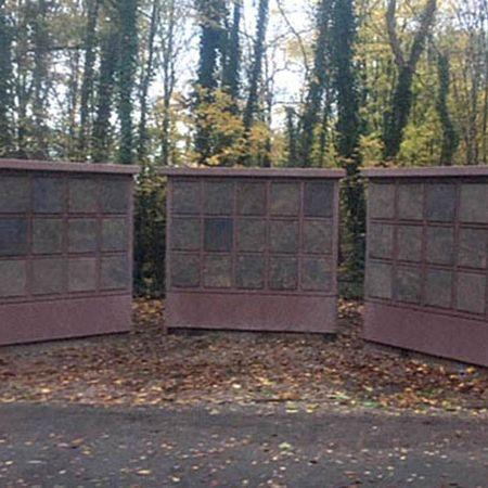 Sechs neue Urnenwände, Waldfriedhof Oer-Erkenschwick