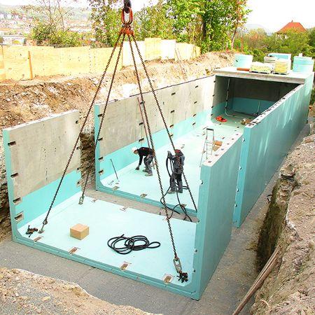Regenrückhaltebecken mit 270 m³ Fassungsvolumen, Jena