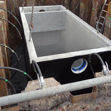 Drei Sedimentationsanlagen für den Ausbau der B102, Ragösen