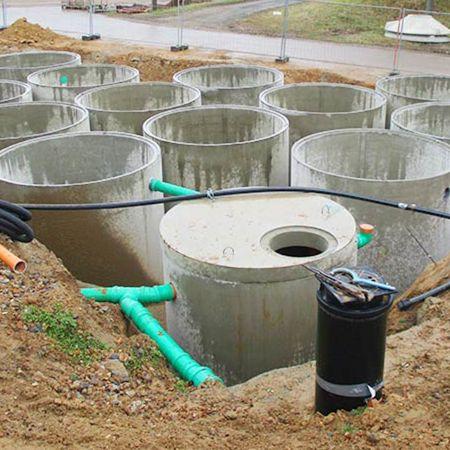 Regenwasserspeicheranlage für Gärtnerei, Freiberg