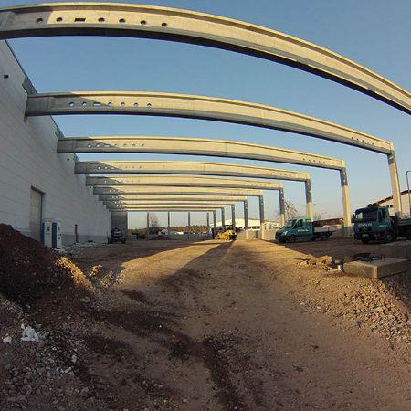Neubau einer Lagerhalle, Roth