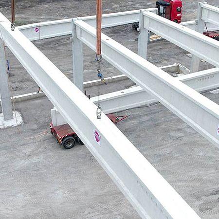Spannbetonbinder 38 Meter lang, Dorsten