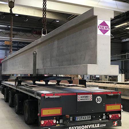 42 t Paralleldachbinder für Produktionshalle, Neuhausen
