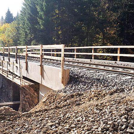 Erneuerung der Bahnbrücke bei Bayerisch Eisenstein