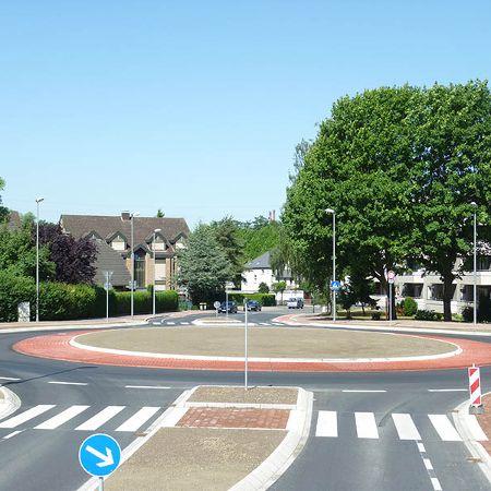 Kreisverkehr in Fertigteilbauweise, Gladbeck