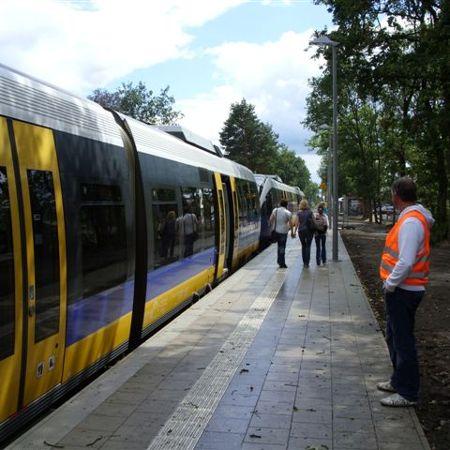 Bahnsteigsystem am Haltepunkt Hövelriege