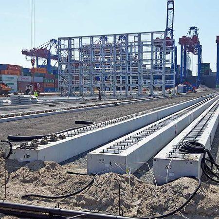 Kranbahnbalken für das Containerterminal Hamburg