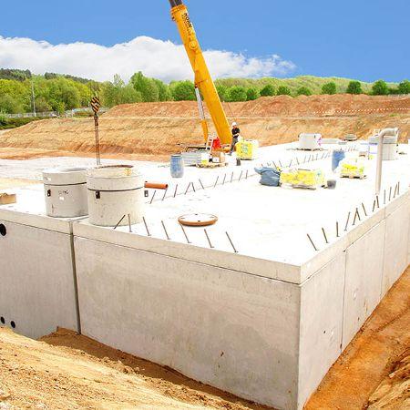 Regenwasserrückhaltung und Löschwasserspeicher, Neukirchen