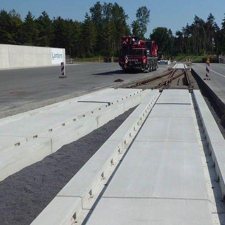 Gleistragplatten für Hafen Spelle